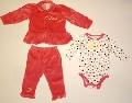Set hainute pentru bebeluse Buline colorate - 14916A