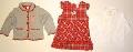 Set hainute pentru fetite in carouri rosii - 14886