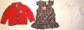 Set hainute pentru fetite in carouri gri - 14886A
