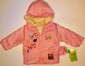 Geaca roz pentru fetite cu 2 fete - 14809A