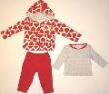 Set hainute pentru bebeluse Inimioare vioaie - 14779