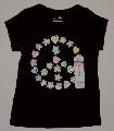 Tricou cu inimioare si floricele pentru fetite - 9126