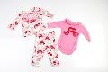 Set hainute pentru bebeluse cu pauni