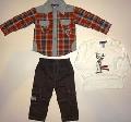 Set camasa, tricou si pantaloni copii -14124A