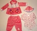 Set hainute bebe fetite - 14066A