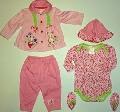 Set hainute bebeluse 5 piese Soricelele fashion - 14061