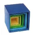 Set de cutii colorate, albastru - RMK10570
