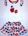 Set hainute pentru fetite de vara cu imprimeu cu floricele