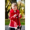 Compleu de fetite compus din sarafan si palton Sofia - Rosu