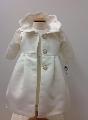 Paltonas botez din tafta satinata pentru bebeluse Snow White - SNB03