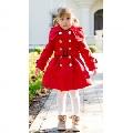 Palton fete de iarna pentru scoala Red Princess - Rosu