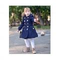 Palton fete de iarna stil gogosar Blue Princess - Bluemarin