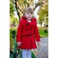 Paltonase groase de iarna pentru fetite Red Doll - Rosu