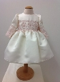 Rochita din tafta satinata eleganta pentru fetite Rose Princess - SNB17_1
