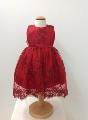 Rochita cu broderie rosie eleganta pentru fetite Red Princess - SNB13_1