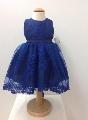 Rochita cu broderie albastra eleganta pentru fetite Blue Princess - SNB11_1