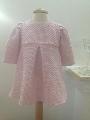 Rochita din stofa pentru bebeluse de botez Pink dress - SNB24