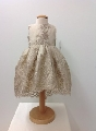 Rochita din broderie pusa pe satin pentru bebeluse de botez Little regal dress - SNB23