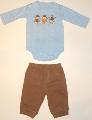 Set body cu pantalonas bebe - 14994A