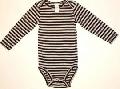 Body bebe alb cu dungi negre 15025