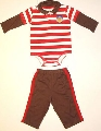 Body cu guleras si pantalon bebelus -14997A