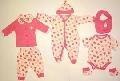 Set hainute bebeluse cu imprimeu capsuni -14976