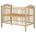 Patut copii din lemn Hubners Lizett 120x60 cm natur - HUBPHLIZ12NA