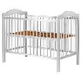 Patut copii din lemn Hubners Lizett 120x60 cm alb - HUBPHLIZ12AL