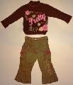 Bluzita cu pantalonas pentru fetite -14844