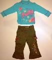 Bluzita cu pantalonas pentru fetite -14844A