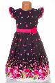 Rochita fete cu imprimeu floral roz - BBN1148
