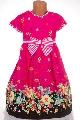Rochita fete roz cu buline si flori - BBN1140