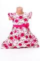 Rochita fetite cu boboc roz in talie - BBN1098