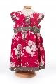 Rochita fetite roz cu imprimeu floral  - BBN1083