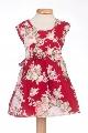Rochita rosie bebe cu imprimeu floral - BBN2082