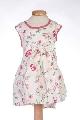 Rochita alba bebe cu imprimeu floral - BBN2086