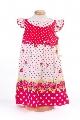 Rochita fetite cu buline si imprimeu floral - BBN1087