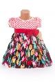 Rochite pentru fetite cu model cu lalele colorate - BBN1077