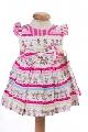 Rochite roz de fetite cu imprimeu cu balerine - BBN1055