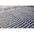 Sistem de gard cu panou bordurat zincat, cu inaltime de 2 metri