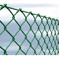 Sistem de gard din plasa verde impletita, cu inaltime 2 metri