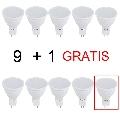 Set 10 Spoturi Led 6W 12V lumina calda DLF 3062