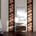 Faianta pentru baie si bucatarie maro Legno Wengue 25x50 cm