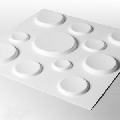Panou decorativ 3D Craters din trestie de zahar