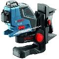 GLL 3-80 P Professional cu suport perete- 3 planuri laser intersectate in 90 grade - vizibile continue