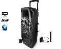 Boxa portabila Ibiza Sound PORT225VHF-BT,600W