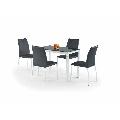 Set masa HM Argus alb-negru  plus 4 scaune K168