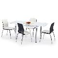 Set masa HM L31 alb plus 4 scaune K171
