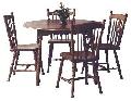 Set Masa rotunda cu 4 scaune dining - Masa Bonanza + 4 Scaune MD 811