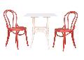 Set mobilier curbat: masa bistro + 2 scaune 6016